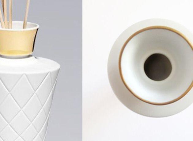 Pot à bougie et diffuseur en porcelaine Abriza | Artoria Limoges