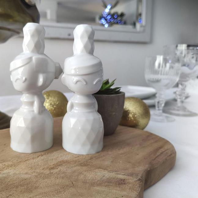 Salière poivrière en porcelaine Adreuz | Artoria Limoges