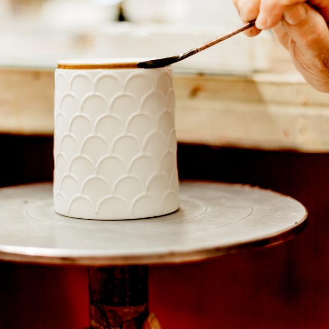 Pot à bougie Rebatchi en porcelaine | Artoria Limoges