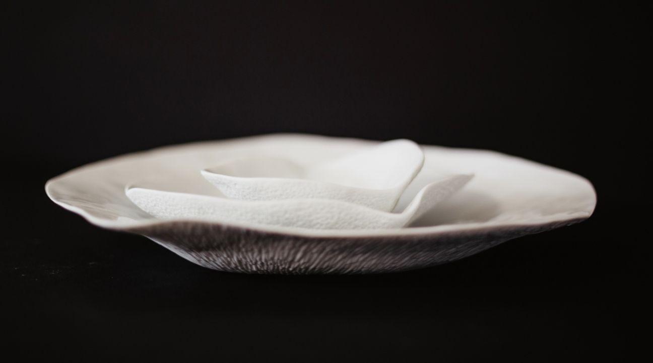 Assiettes et coupes en porcelaine Sarah Linda Forrer | Artoria Limoges