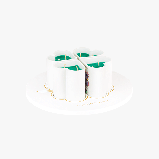 Pot à bougie Maison Flamel en porcelaine   Artoria Limoges